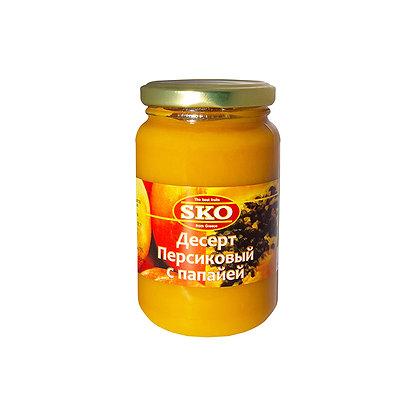 """Десерт персиковый с папайей """"SKO"""" 350г (Греция)"""