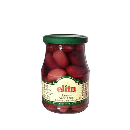 """Оливки каламата с косточкой """"ELITA"""" 370мл  ст/б  (Греция)"""
