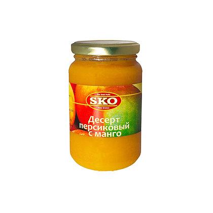 """Десерт персиковый с манго  """"SKO"""" 350 г, (Греция)"""