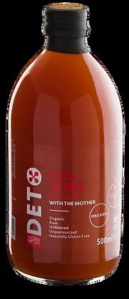 """Уксус красный  винный   organic нефильтрованный  """"DETO ANDREA MILANO"""" 500 мл"""
