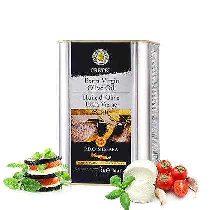 "Масло оливковое ""СRETEL"" ESTATE EVOO AC 0,3-0,6 ж/б 3000мл"