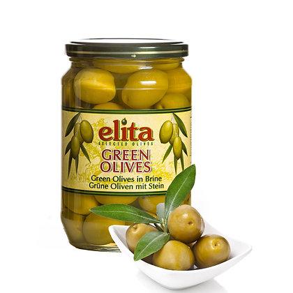 Греческие оливки с косточкой ELITA 720мл