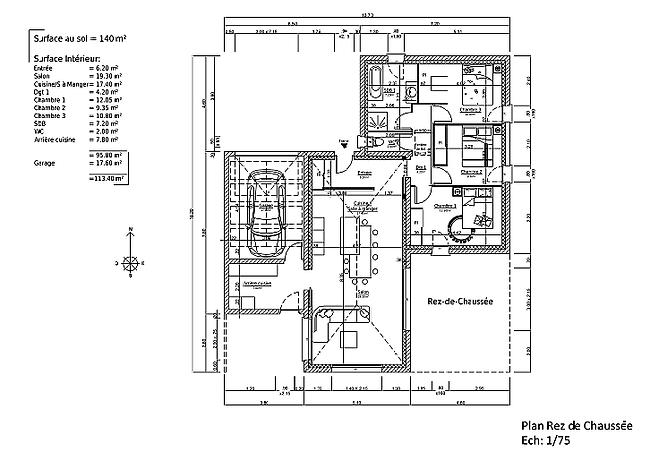 plan d'architecture CABRITA