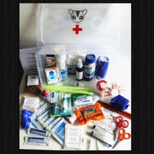 La trousse complète de soins d'urgence et rejet de joeys