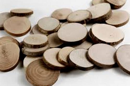 """Disques de bois d'eucalyptus rustique 0.8"""" -1.25"""""""