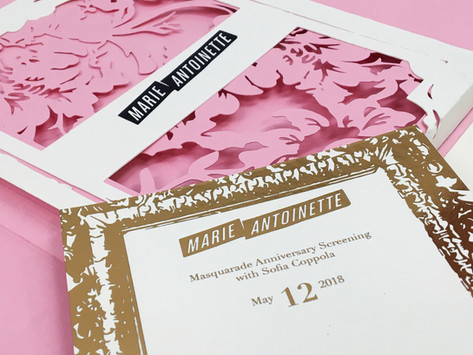 Marie Antionette Invitation
