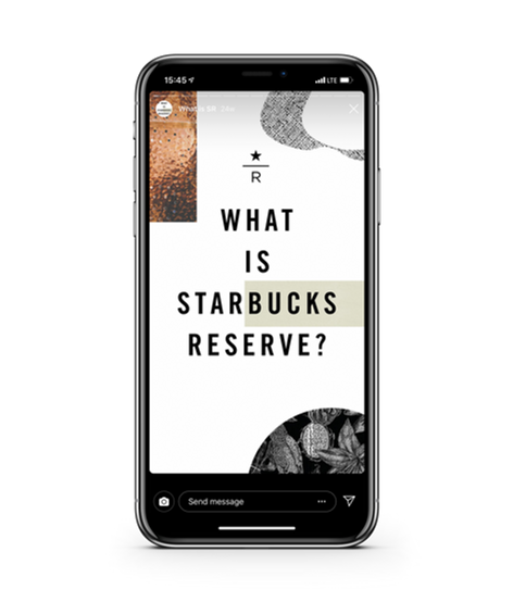 Starbucks Reserve Social Media