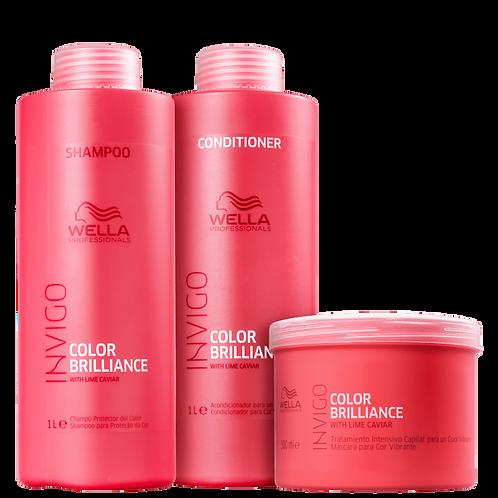 Kit Wella Professionals Invigo Color Brilliance 1 Litro (3 Produtos)