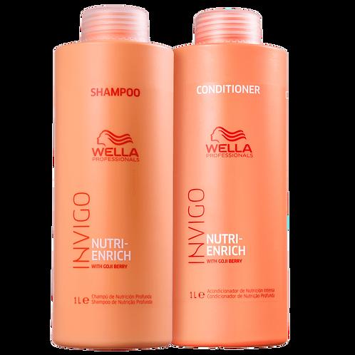 Shampoo + Condicionador Wella Professionals Invigo Nutri-Enrich - 1 Litro