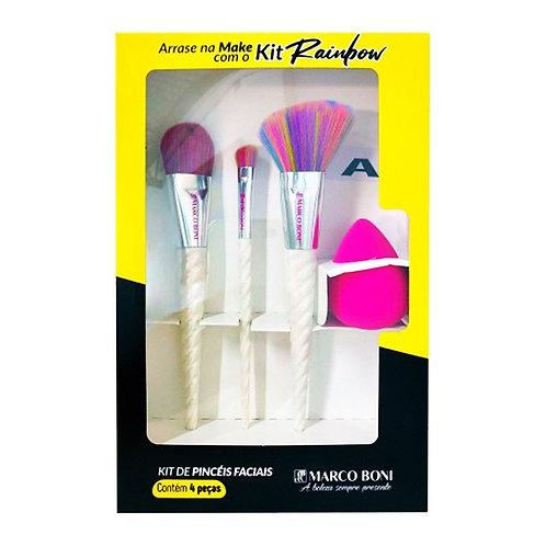 Kit de Maquiagem Rainbow Com 4 Peças - Marco Boni