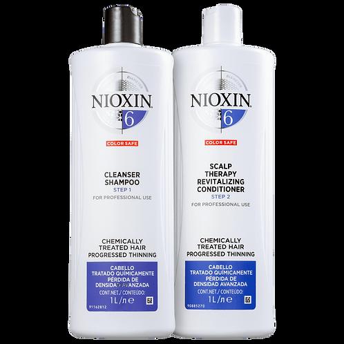 Kit Nioxin System 6 Salon Duo (2 Produtos)Kit em tamanho salão para cabelos com