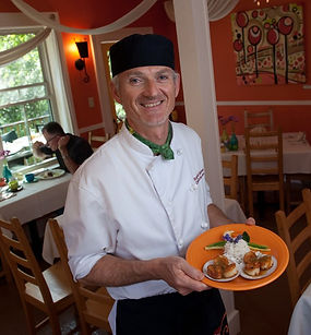 Chef Roland Glauser of Charlotte Lane fame