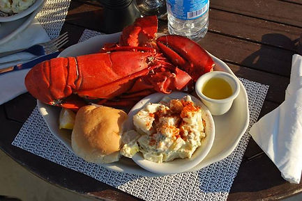 Lobster Dinner on The Brown Eyed Girl