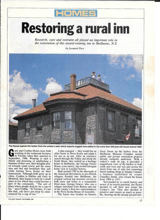 Restoring a Rural Inn