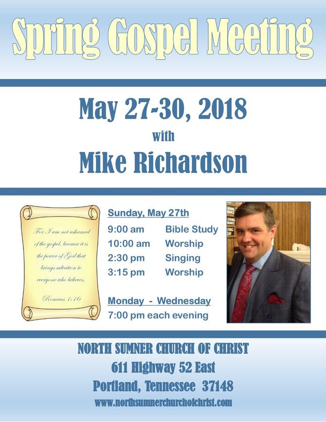 Spring 2018 Gospel Meeting
