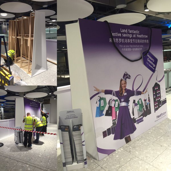 Heathrow Bag Installation