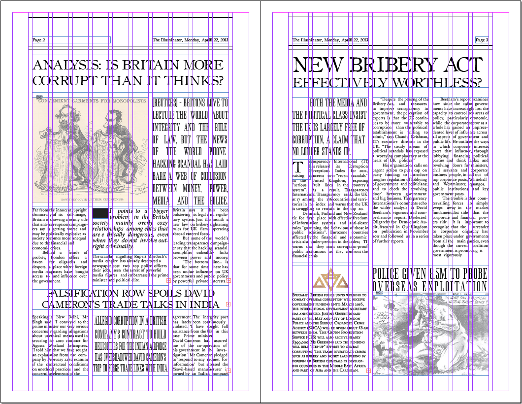 The Illuminator Newspaper Layout