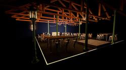Beer Hall in Cinema 4D