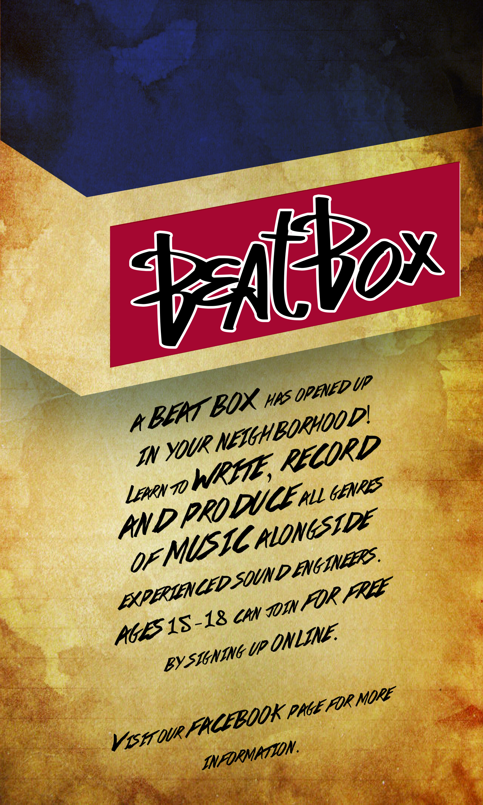 BeatBox Pop-Up Studio Poster