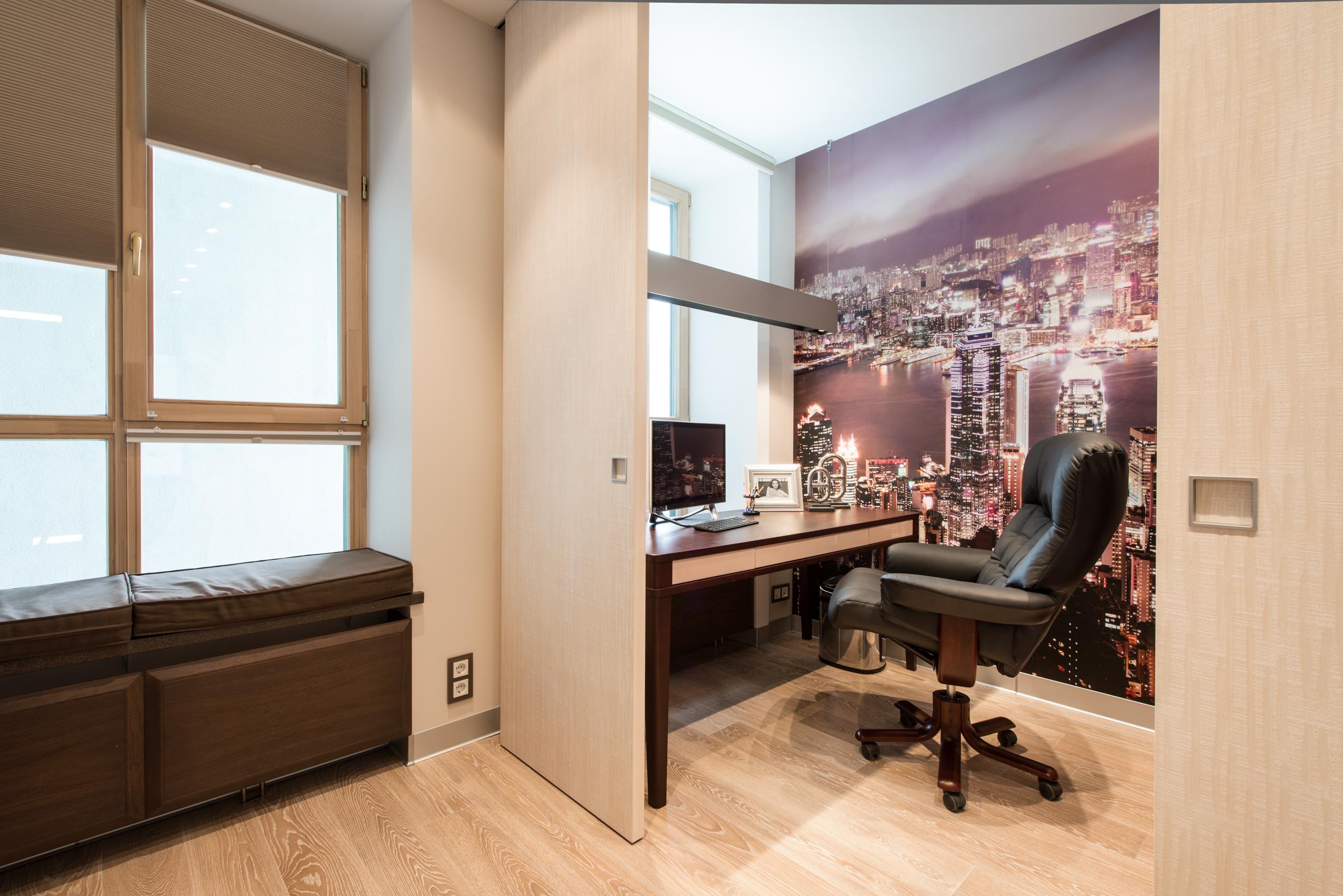 кабинет, дизайн интерьера, проект