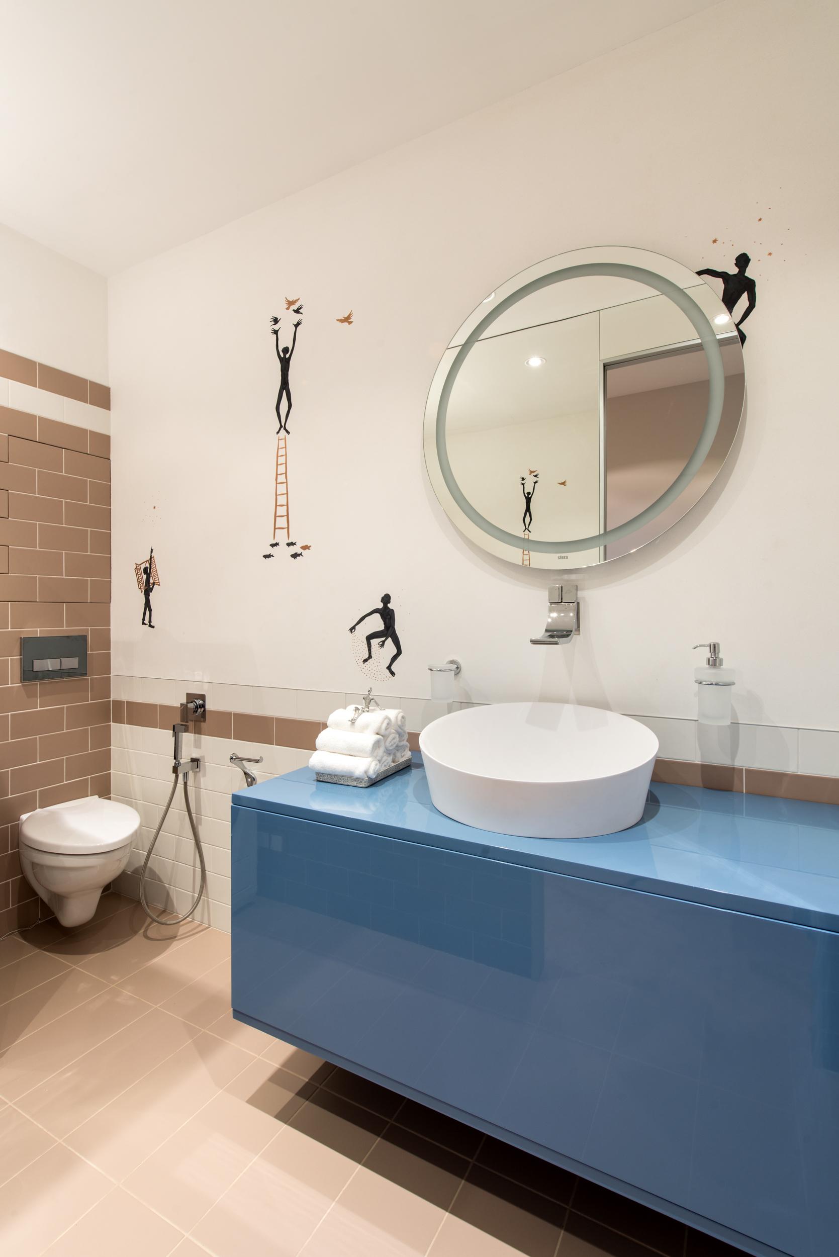 раковина, роспись,идея, ванная,тумба