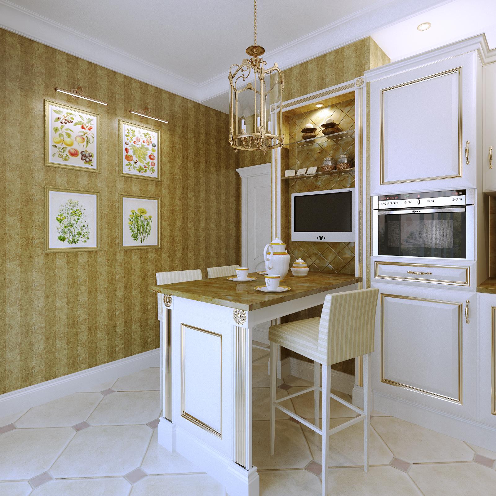 Кухня, классика, интерьер, москва