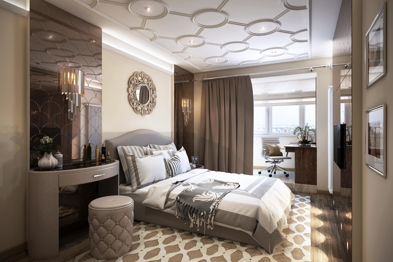 спальня, интерьер, дизайн, москва