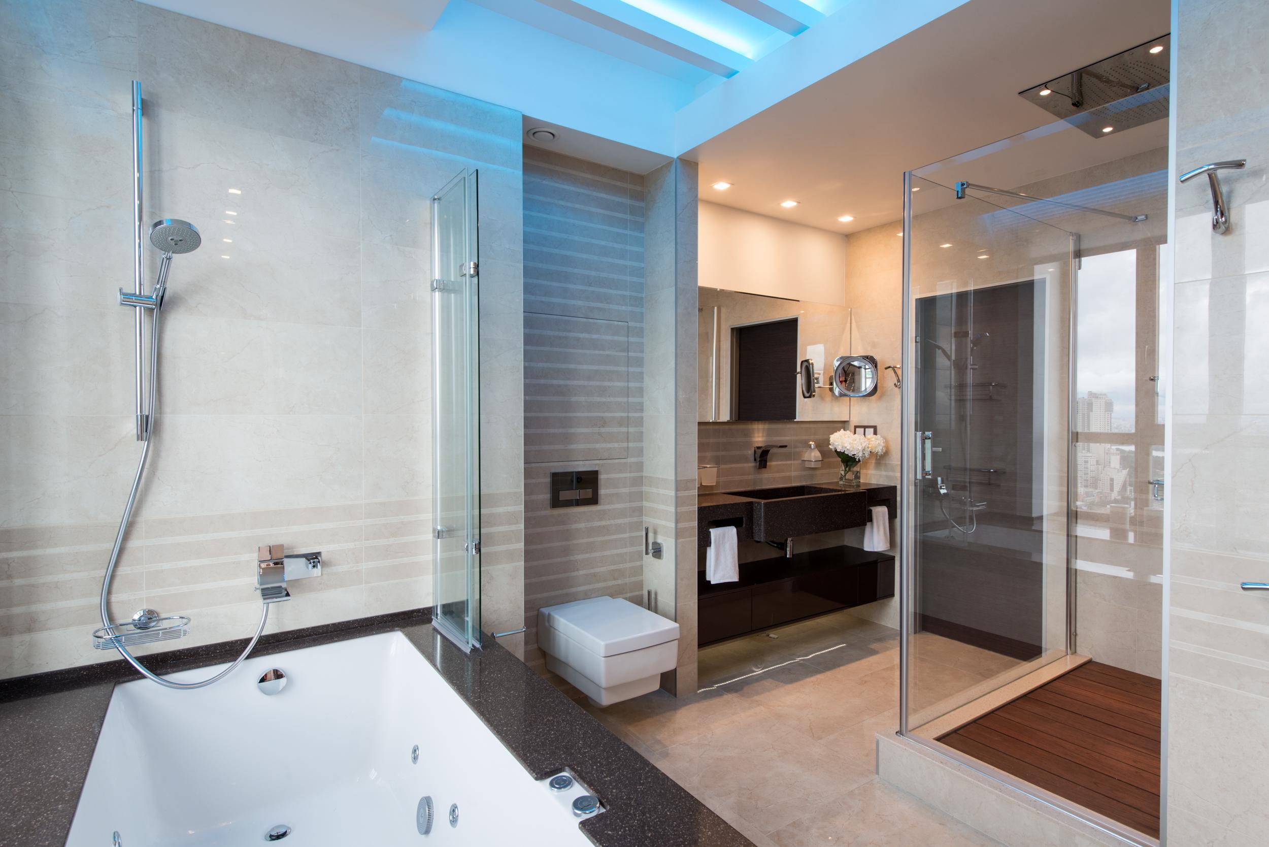 Ванная, дизайн, стиль, подсветка