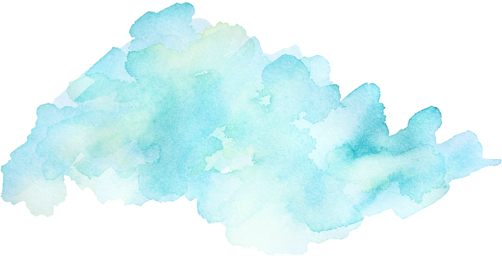 Aqua watercolor background as footer for midlife & healing arts business coach Demara Stamler