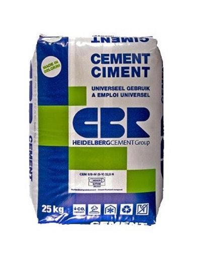 Cement - snelbeton - beton - stabilise  (alles in zakken)
