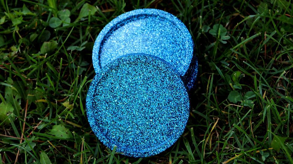 Mavi Simli Bardak Altlığı