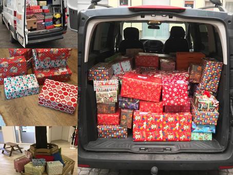 Über 200 Päckchen für den Weihnachtspäckchenkonvoi 2018 aus Hildesheim