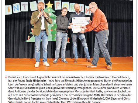 Förderung von Schwimmkurs in Koorperation mit Eintracht Hildesheim aus den Erlösen der Projekte 2019