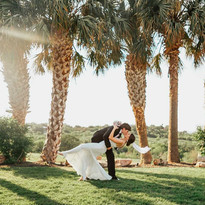 Wedding Portrait on Arbor and Terrace
