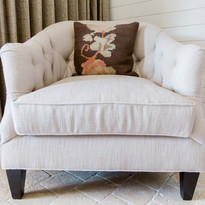 Accent chair in hotel room