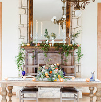 Sweet Heart Table and Fire Place Located Inside the Ballroom
