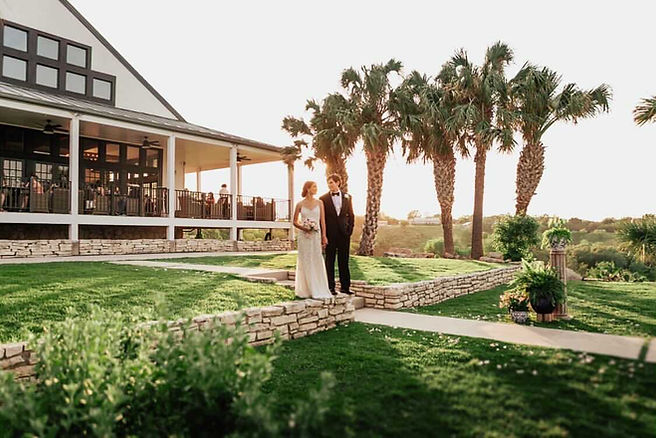 Wedding Couple Standing Outside For Wedding Photography at Hillside Boutique Hotel