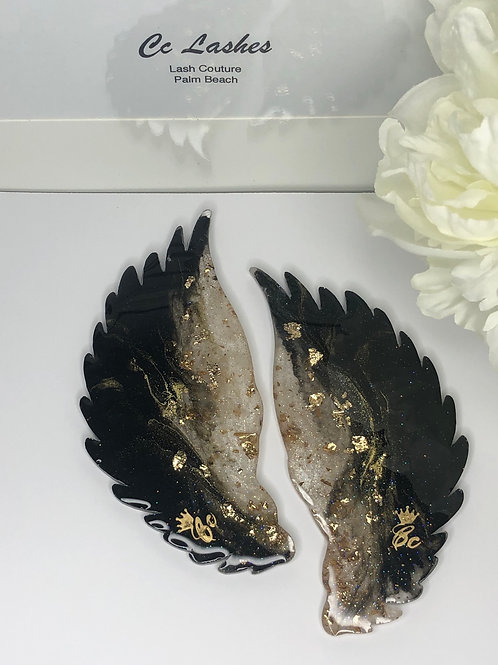 Small Black Wings Lash Tiles (Pair)