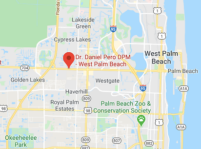 Map Dr. Daniel Pero DPM West Palm Beach