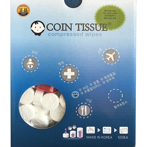 COIN TISSUE 500 pcs - with FREE CASE