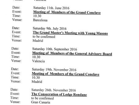 """Så er datoen for R.L.Rondanes """"consecration"""" endelig på plass."""