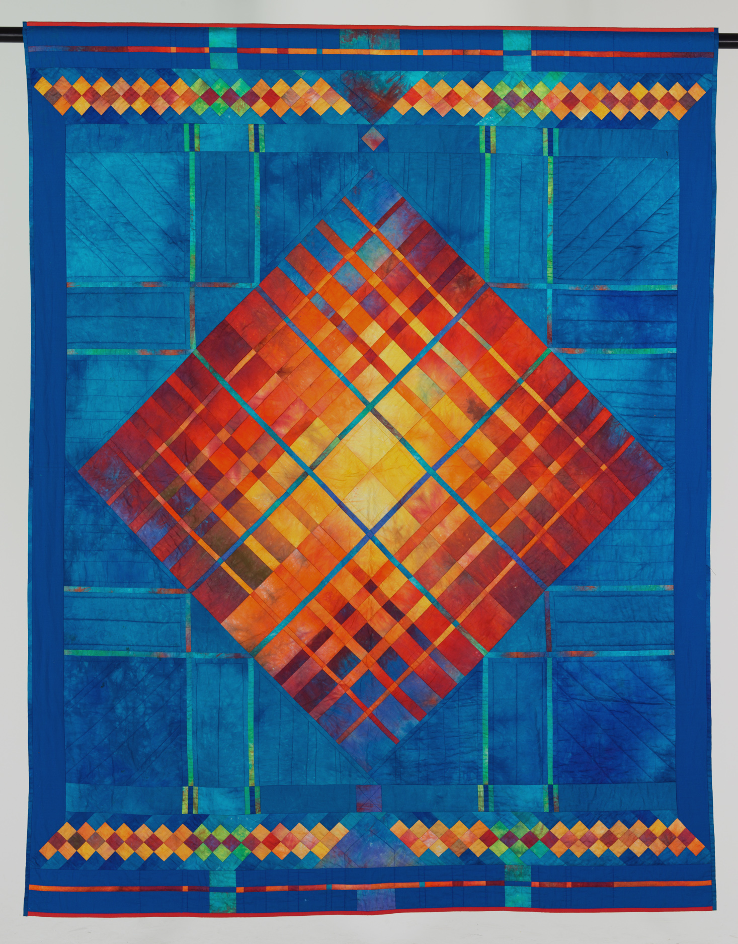 Red on a blue ground (158 x 196 cm)