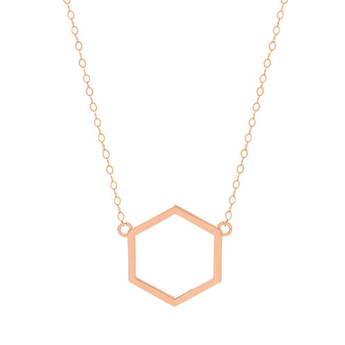 Rose Gold Hexagon