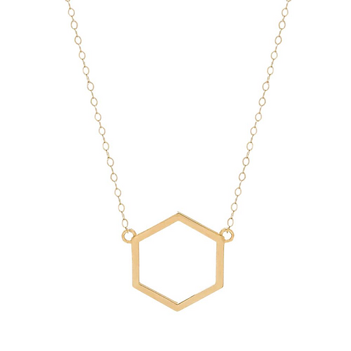 Yellow Gold Hexagon
