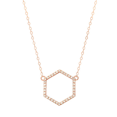 Rose Gold Diamond Hexagon