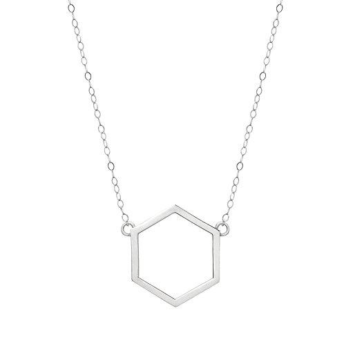 White Gold Hexagon