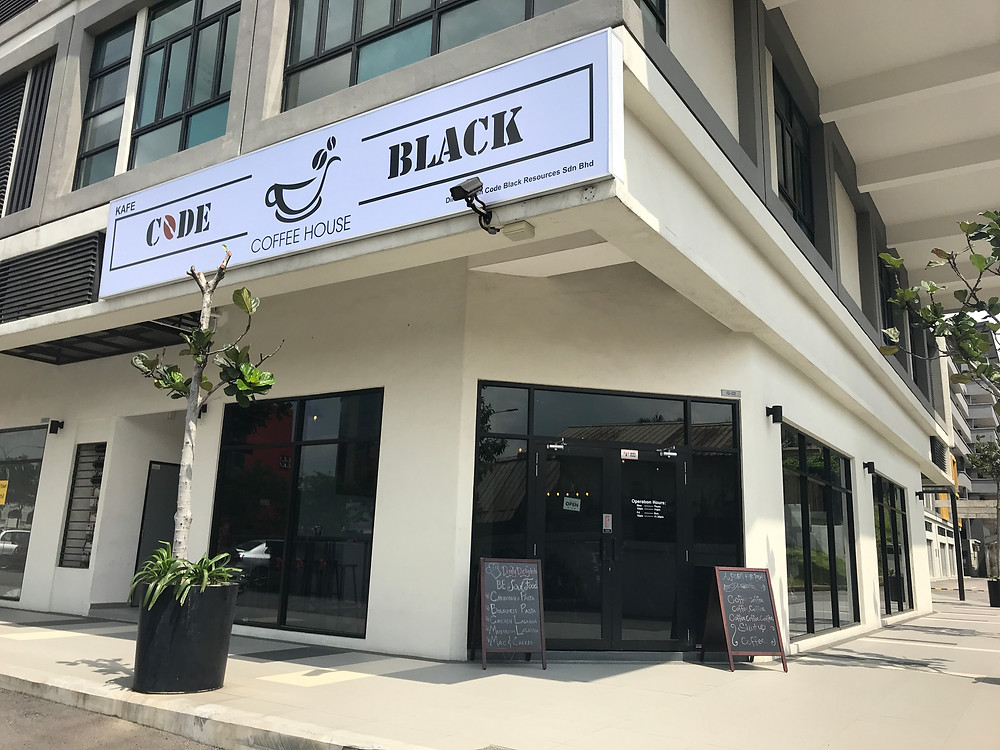 code black coffeehouse kajang