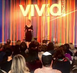 Cecilia Macaulay speaking at Vivid Ideas Sydney