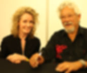 Cecilia speaking with David Suzuki at the Sydney Eco Expo