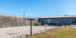 Robben island prisoner courtyard